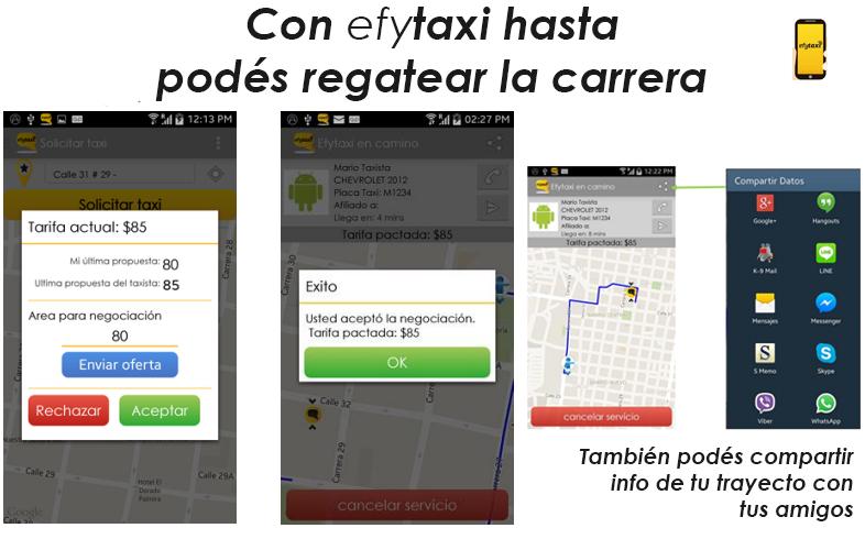 Efytaxi — una aplicación para viajar seguro en taxi
