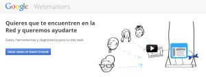 Webmaster Google - Pantalla Alterna