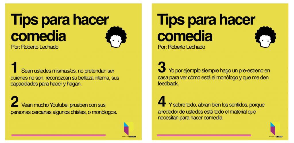 Tips para hacer Stand Up por Roberto Lechado