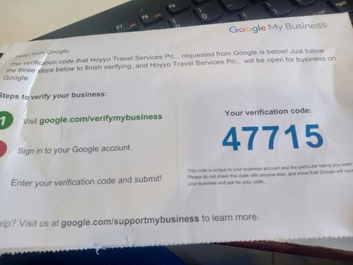 seo local google my business codigo verificacion