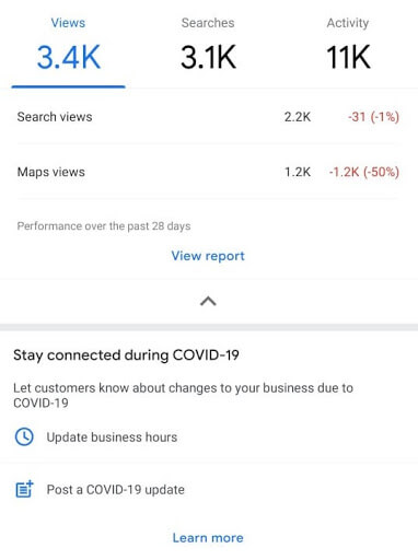 seo local google my business dashboard metricas