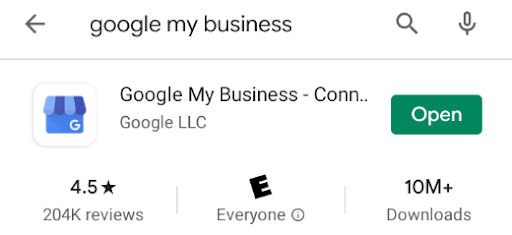 google my business app store