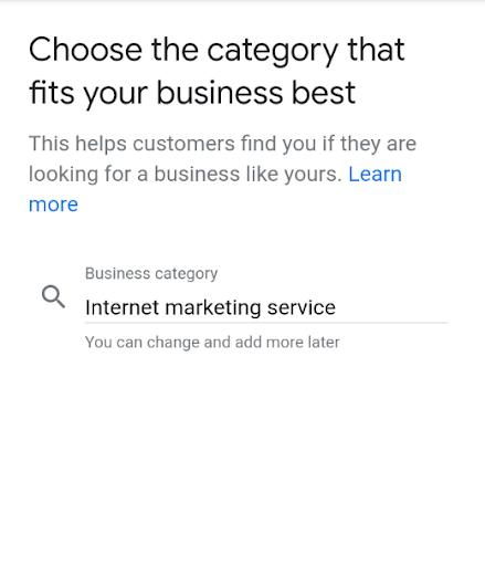 google my business formulario